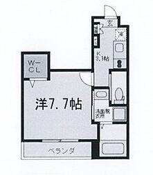 東京都世田谷区鎌田1丁目の賃貸マンションの間取り
