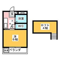 アリス箱田[2階]の間取り
