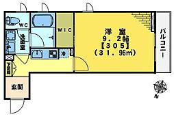 mizunoto[305号室]の間取り