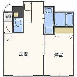 KAZU栄通[2階]の間取り