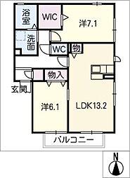 仮)D−room弥生町松原B棟[2階]の間取り