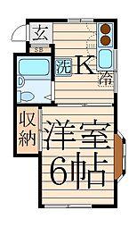 コーポ野方[2階]の間取り