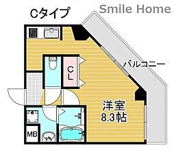 TOYOTOMi STAY Premium 天王寺公園南III 10階1Kの間取り