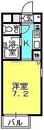 岡地レジデンス中島[108号室]の間取り