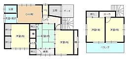 間取りは一階のDK横和室を洋間に、2階和室を洋間へ間取り変更いたしました。