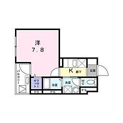 東京メトロ丸ノ内線 西新宿駅 徒歩4分の賃貸マンション 2階1Kの間取り