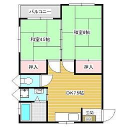 城取アパート[2階]の間取り