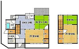 [一戸建] 福岡県福岡市東区名島3丁目 の賃貸【福岡県 / 福岡市東区】の間取り