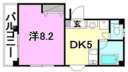 カーサ朝美[3階]の間取り