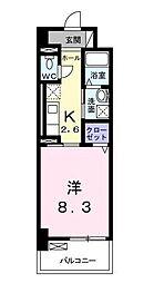 ラインスター三萩野[5階]の間取り