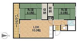 中村マンション[101号室]の間取り