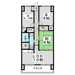 アルス台原[1階]の間取り