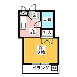 シャルマン神宮[1階]の間取り