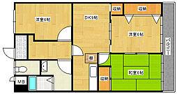 兵庫県神戸市垂水区つつじが丘5丁目の賃貸マンションの間取り