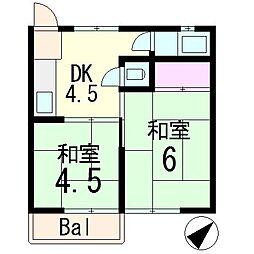 小森マンション[2階]の間取り