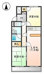 メゾンASAHI[1階]の間取り