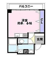 兵庫県姫路市南車崎1丁目の賃貸マンションの間取り