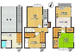 [テラスハウス] 神奈川県川崎市多摩区枡形5丁目 の賃貸【/】の間取り