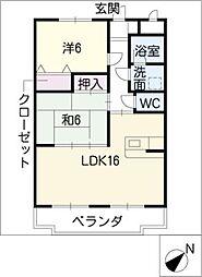 ふじ第二マンション[3階]の間取り