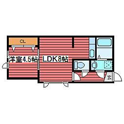 リッチタウン栄通六番館[1階]の間取り