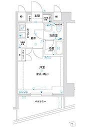 東京都板橋区東坂下1丁目の賃貸マンションの間取り