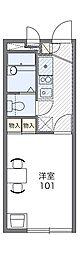 阪急箕面線 箕面駅 徒歩16分の賃貸アパート 2階1Kの間取り