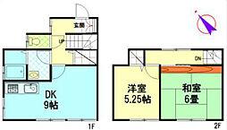 [テラスハウス] 神奈川県茅ヶ崎市代官町 の賃貸【/】の間取り
