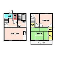 [テラスハウス] 神奈川県厚木市三田 の賃貸【神奈川県 / 厚木市】の間取り