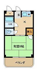 兵庫県尼崎市南七松町1丁目の賃貸マンションの間取り