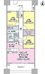 ラゾーナ川崎レジデンス[R1204号室]の間取り