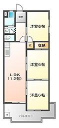 ロイヤルハイツ白子駅[3階]の間取り