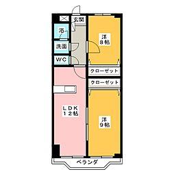 T.Fコンフォート[3階]の間取り