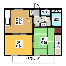 メゾンイマオA[2階]の間取り