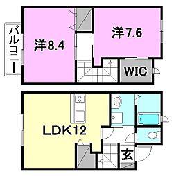 [テラスハウス] 愛媛県松山市針田町 の賃貸【/】の間取り