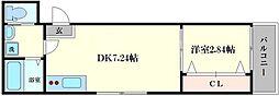 ドゥエリング千林商店街 3階1DKの間取り