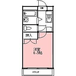 安田学研会館 東棟[301号室]の間取り