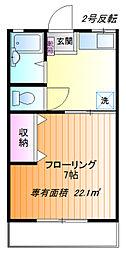 エトワール桜ヶ丘[202号室]の間取り