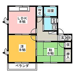 エトワールナカムラA[2階]の間取り