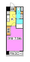 埼玉県所沢市寿町の賃貸マンションの間取り