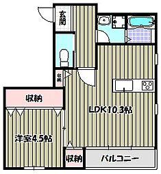 エフイー新金岡[4階]の間取り
