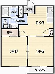 ロイヤルアヅサ[203号室]の間取り