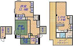 ハイツ中島II[4階]の間取り