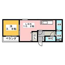 Leciel桜本町[1階]の間取り