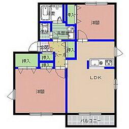 アミールA棟[1階]の間取り