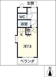 ラ・プチメール[1階]の間取り