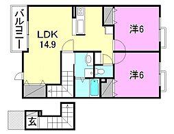 グルニエ ドール[B205 号室号室]の間取り