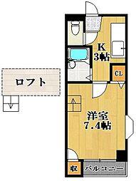 松原TKDハウス[1階]の間取り