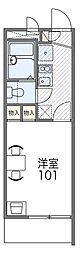 JR阪和線 三国ヶ丘駅 徒歩10分の賃貸マンション 3階1Kの間取り