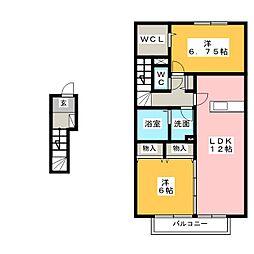 カーサ 杏子[2階]の間取り