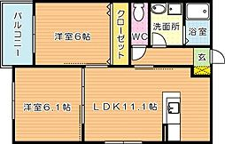 ConfortoO大平(コンフォルトオーオオヒラ)[3階]の間取り